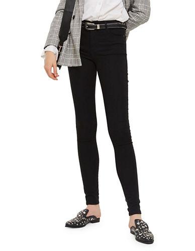 Topshop TALL Leigh Jeans 34-Inch Leg-BLACK-32X36