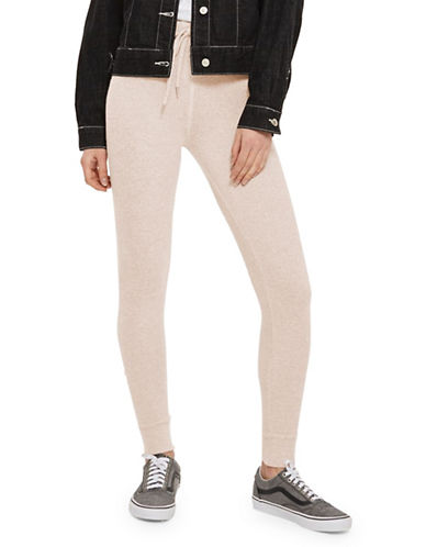 Topshop Brushed Skinny Joggers-LIGHT PINK-UK 12/US 8