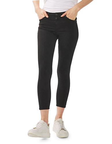 Topshop PETITE MOTO Jamie Jeans 28-Inch Leg-BLACK-30X28