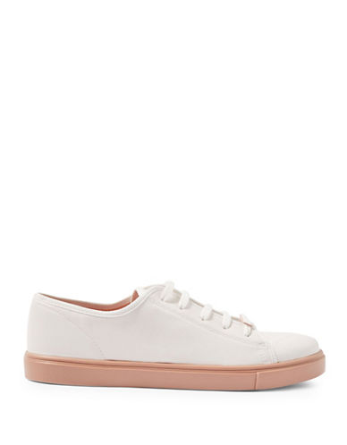 Topshop Crush Lace-Up Sneakers-WHITE-EU 38/US 7.5