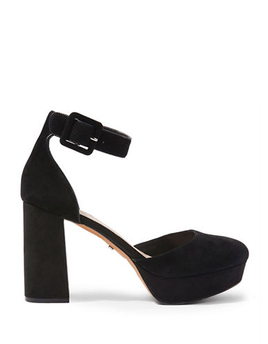 Topshop Sadie Closed Toe Platforms-BLACK-EU 39/US 8.5
