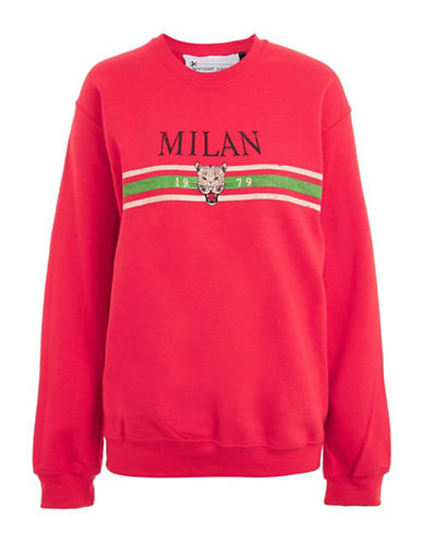 Topshop Milan Sweatshirt by Tee & Cake-RED-Large