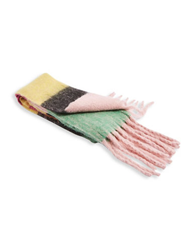 Topshop Bright Brush Scarf-MULTI-One Size