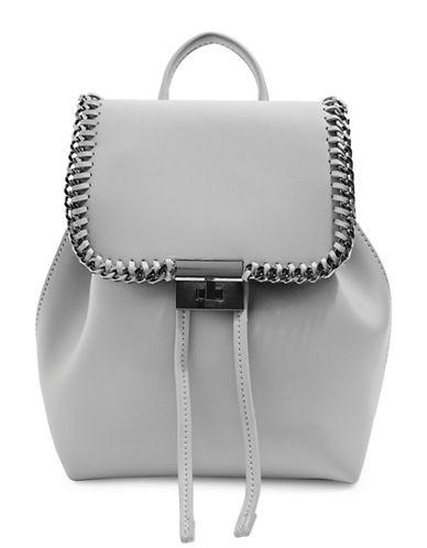 Topshop Mini Lock Chain Backpack-GREY-One Size