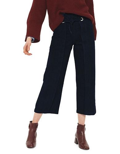 Topshop MOTO Cropped Wide Leg Jeans 30-Inch Leg-MID DENIM-25X30