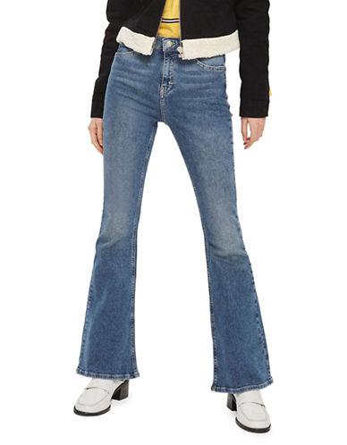 Topshop MOTO Flared Jamie Jeans 30-Inch Leg-MID DENIM-25X30