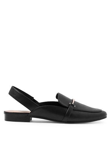 Topshop Lemonade Slingback Loafers-BLACK-EU 39/US 8.5