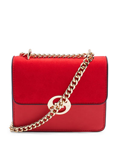 Topshop Rae Crossbody Bag-RED-One Size