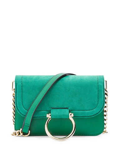 Topshop Remy Trophy Crossbody Bag-GREEN-One Size