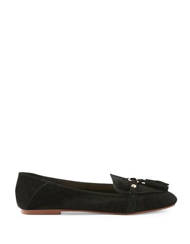 Topshop Lisbon Tassel Loafers-BLACK-EU 37/US 6.5