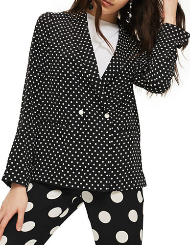 Topshop Soft Spot Jacket-MONOCHROME-UK 10/US 6
