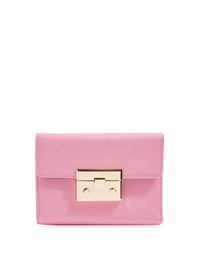 Topshop Push Lock Purse-PINK-One Size