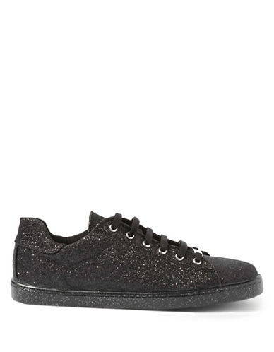 Topshop Champagne Glitter Sneakers-BLACK-11