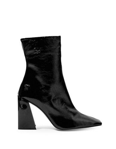 Topshop Harp Ankle Boots-BLACK-EU 35/US 4.5
