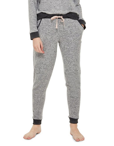 Topshop Marled Jogger Pants-GREY MARL-UK 12/US 8