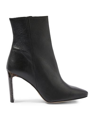 Topshop Hibiscus Ankle Boots-BLACK-EU 38/US 7.5