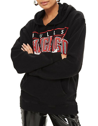 Topshop Chicago Bulls Hoodie by UNK-BLACK-Small