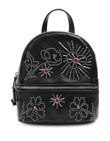 Topshop Rumina Gem Backpack-BLACK-One Size