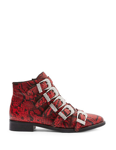 Topshop Andi Ankle Boots-RED-EU 39/US 8.5