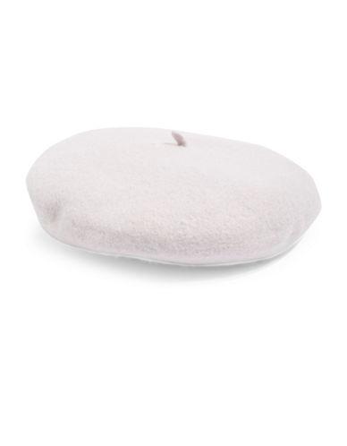 Topshop Wool-Blend Plain Beret-LILAC-One Size