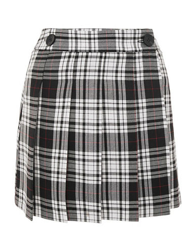 Topshop College Check Kilt-MONOCHROME-UK 12/US 8