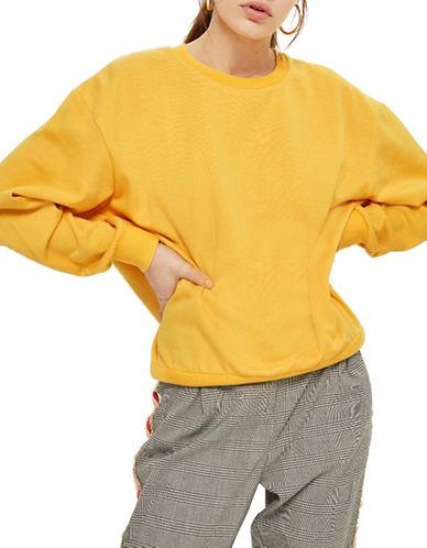 Topshop Oversized Soft Sweatshirt-MUSTARD-UK 12/US 8