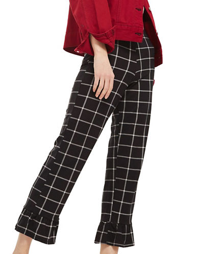 Topshop Window Check Trouser-MONOCHROME-UK 12/US 8