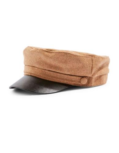 Topshop Baker Boy Hat-CAMEL-One Size