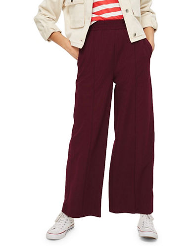 Topshop Wide-Leg Joggers-RED-UK 12/US 8