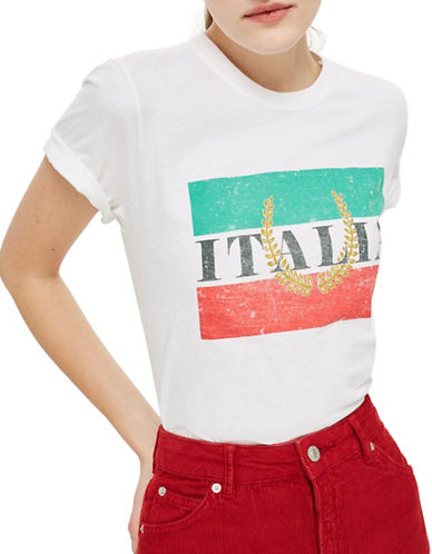 Topshop Italia T-Shirt-WHITE-Medium