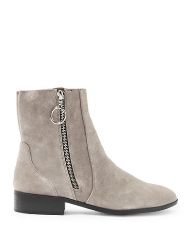 Topshop Kick Ankle Boots-GREY-EU 40/US 9.5