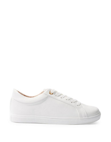Topshop Cookie Lace-Up Sneakers-WHITE-EU 39/US 8.5