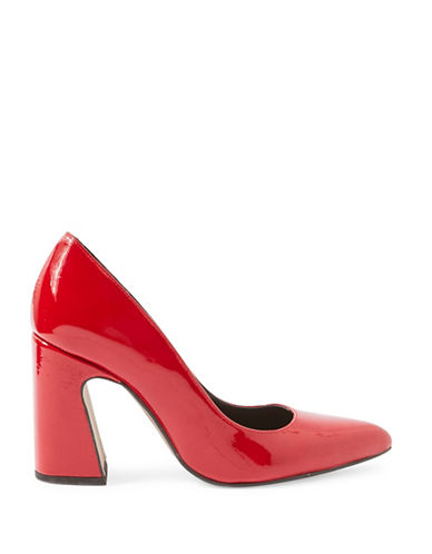Topshop Genesis Patent Leather Pumps-RED-EU 39/US 8.5