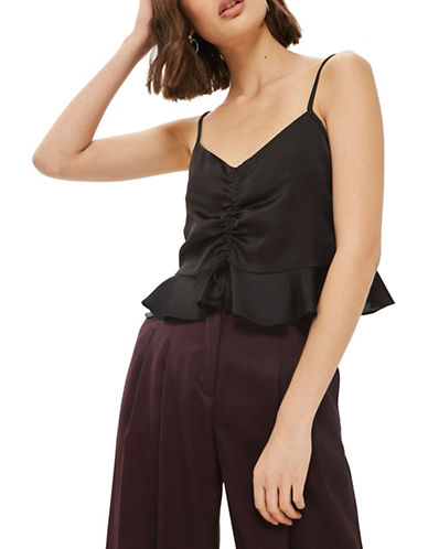 Topshop Satin Cami-BLACK-UK 6/US 2