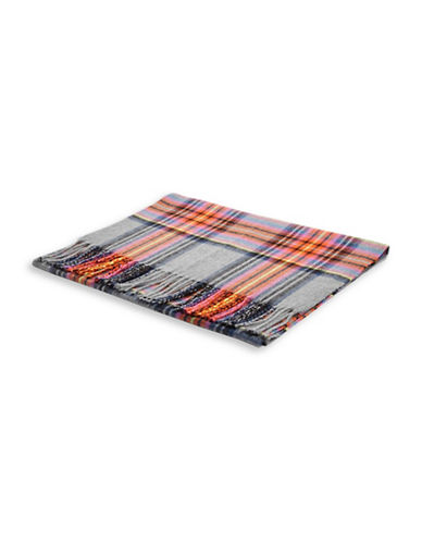 Topshop Heritage Check Scarf-GREY-One Size