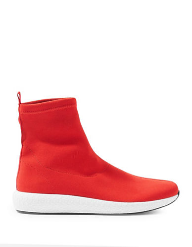 Topshop Toucan Sock Boots-RED-EU 38/US 7.5