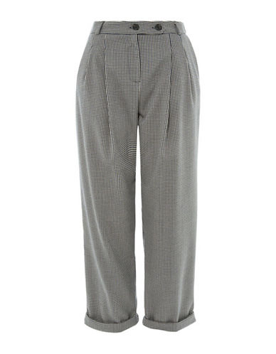 Topshop Check Mensy Trousers-MULTI-UK 10/US 6