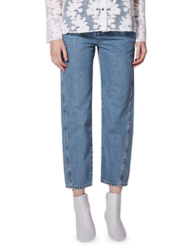 Topshop Displaced Boyfriend Jeans by Boutique-BLUE-UK 12/US 8