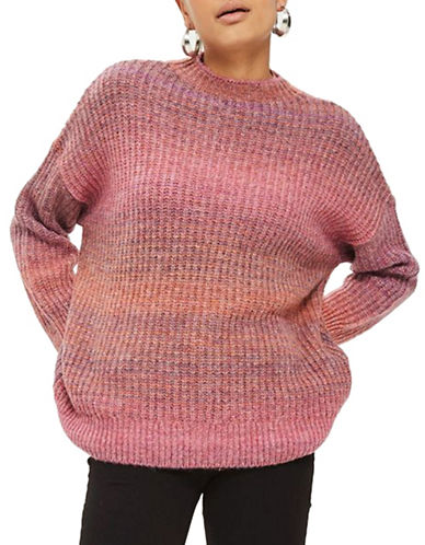 Topshop Space Dye Sweater-PINK-UK 10/US 6