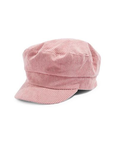 Topshop Corduroy Baker Boy Hat-BLUSH-One Size