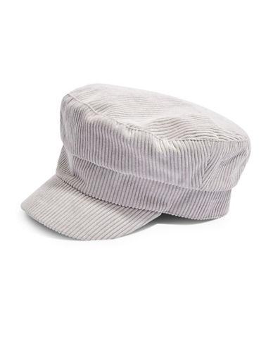 Topshop Corduroy Baker Boy Hat-GREY-One Size