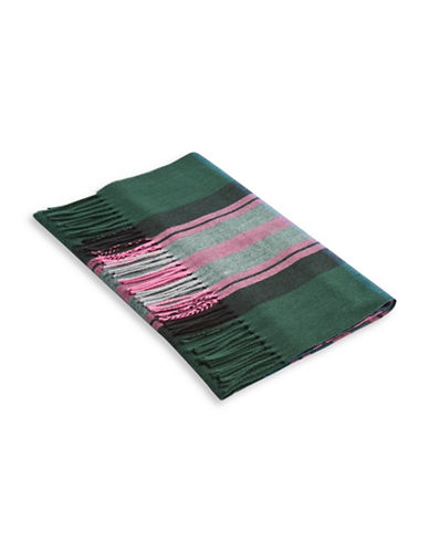 Topshop Heritage Check Scarf-DARK GREEN-One Size