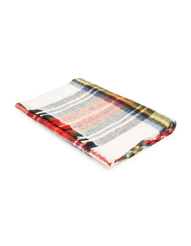 Topshop Checked Scarf-MULTI-One Size