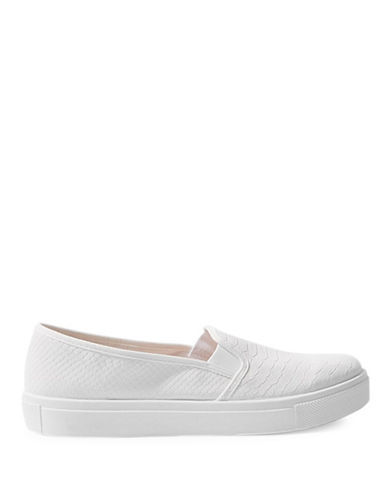 Topshop Womens Tempo Slip-On Trainers-WHITE-EU 39/US 8.5