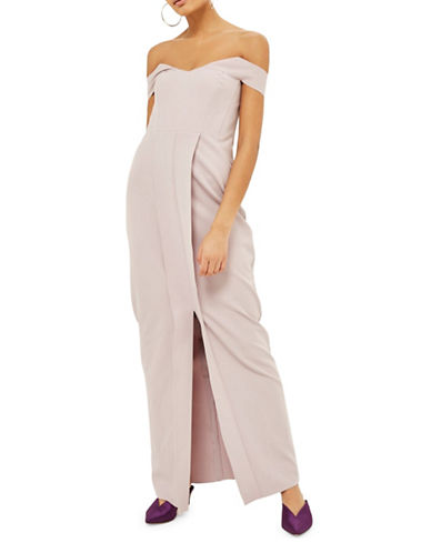 Topshop Crepe Bandeau Maxi Dress-LILAC-UK 8/US 4