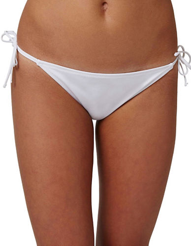 Topshop Tie-Side Swim Bottoms-WHITE-UK 14/US 10