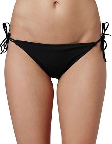Topshop Tie-Side Bikini Bottoms-BLACK-UK 12/US 8