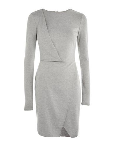 Topshop TALL Drape Detail Dress-GREY-UK 8/US 4