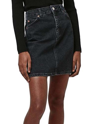 Topshop MOTO High-Waisted Mini Denim Skirt-BLACK-UK 10/US 6 plus size,  plus size fashion plus size appare