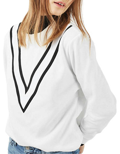 Topshop TALL Sporty Colourblock Sweatshirt-CREAM-UK 12/US 8 88907362_CREAM_UK 12/US 8